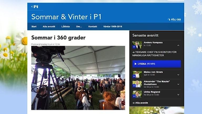 Bild på 360 graders foto från presskonferensen för Sommar & Vinter i P1