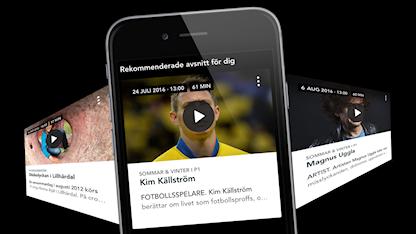 Rekommenderat-modulen i den nya Sveriges Radio Play-appen.