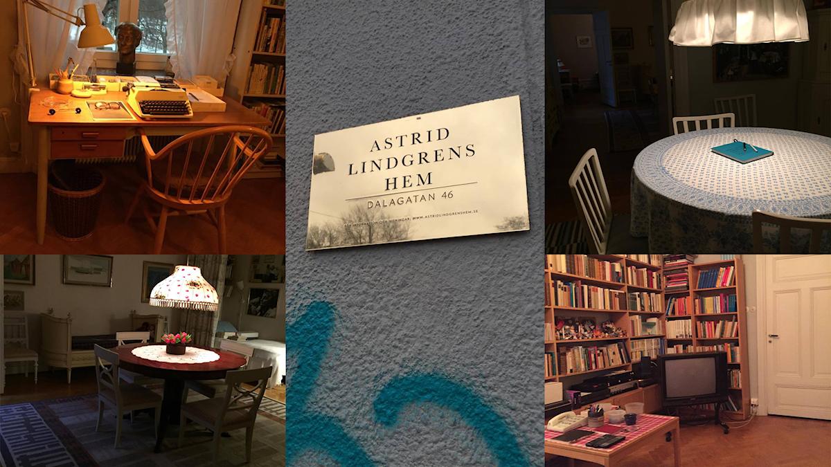 Bilder från Astrid Lindgrens lägenhet