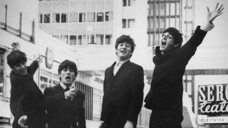 The Beatles, här i Stockholm. Foto: TT