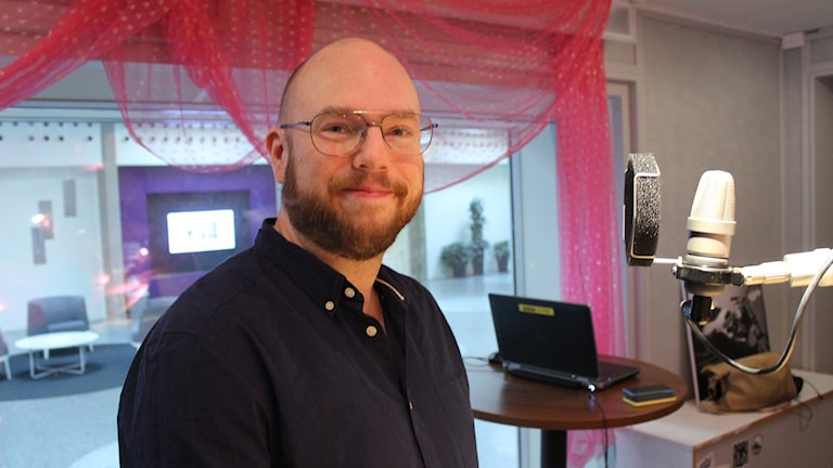 Mikael Jansson är dagens e-sport-expert. Foto: Björn Berglund/SR