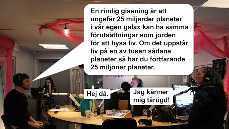 Mind blown. Foto: Björn Berglund/Sveriges Radio