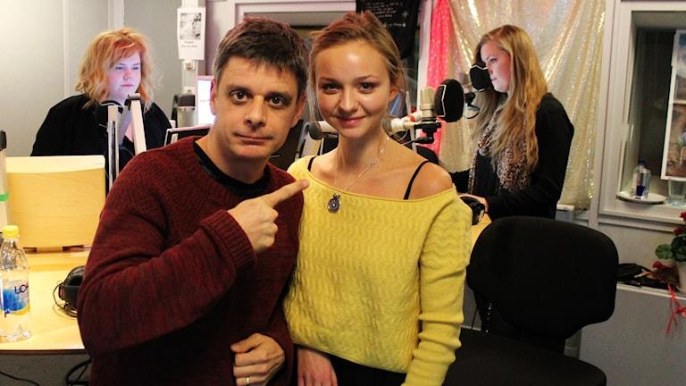 Peter Birro och Anna Åström. Foto: Björn Berglund/Sveriges Radio