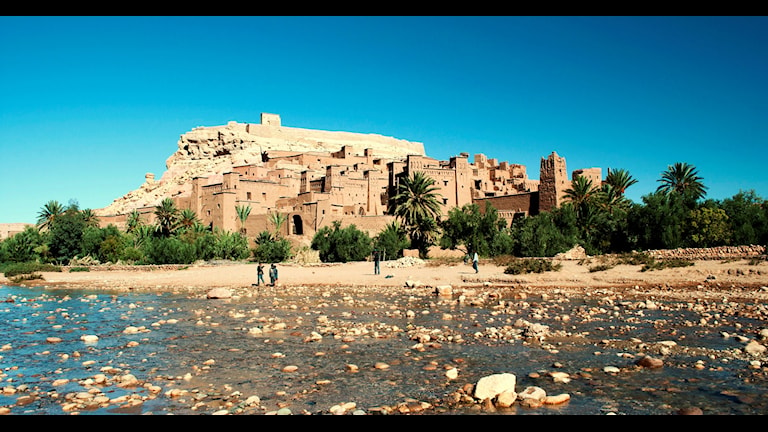 Kasbah nära Aït Benhaddou i Marocko
