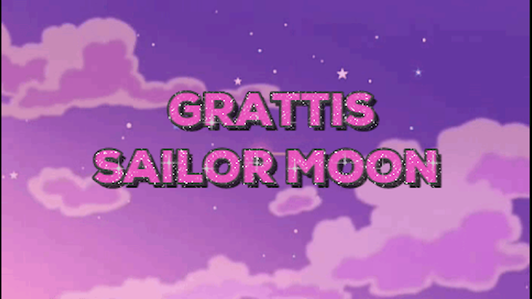 Grattis Sailor Moon text