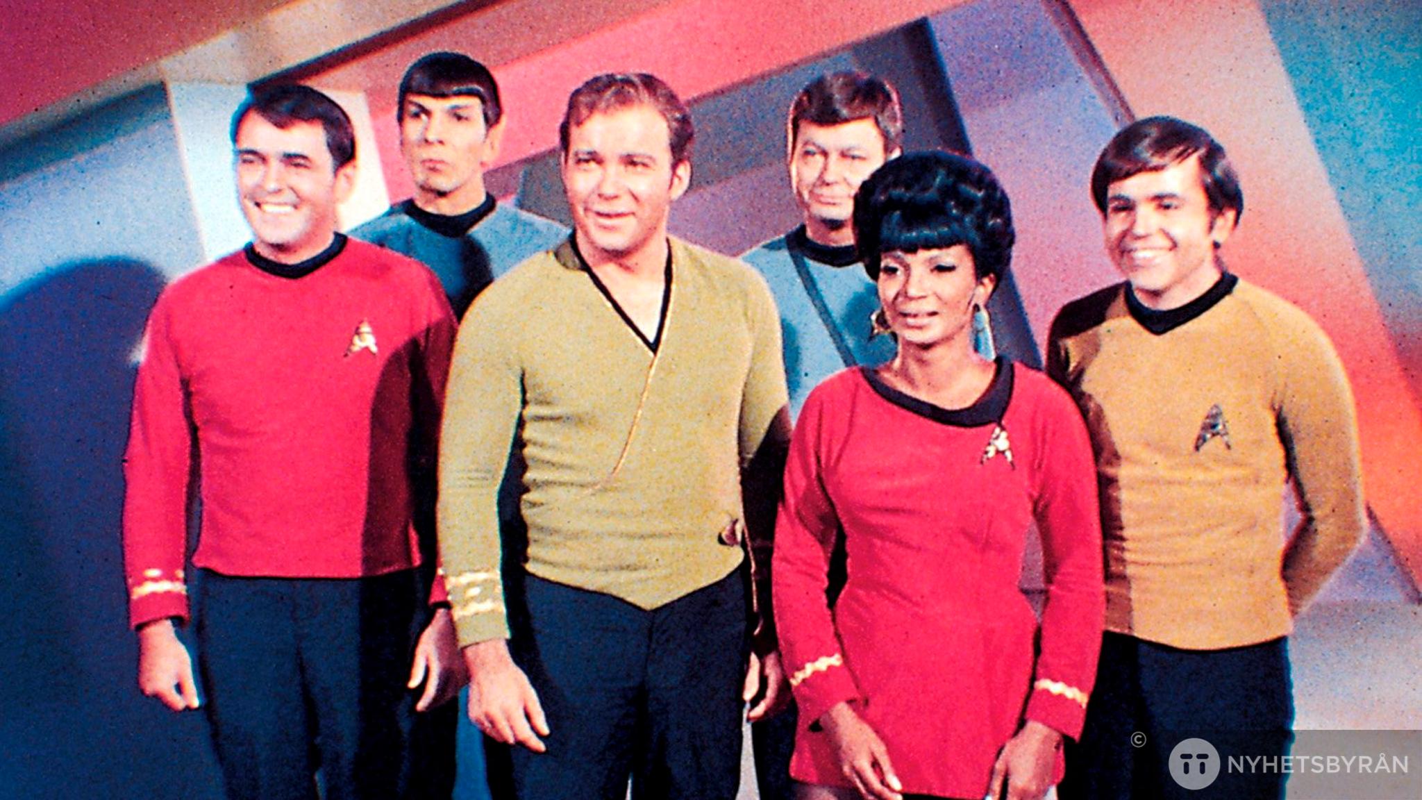 Bild på besättningen i Star Trek