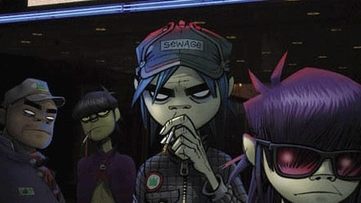 Bild på alla karaktärerna i Gorillaz