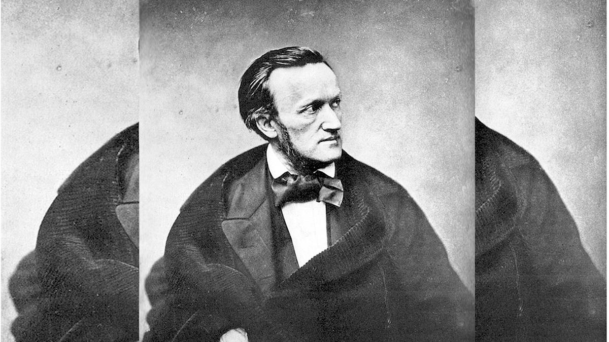Svart och Vit bild på Richard Wagner i profil