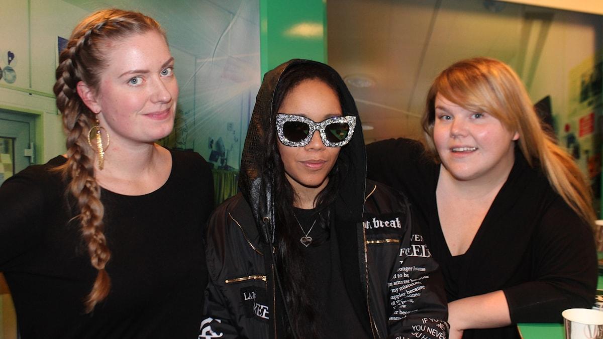 Sara Kinberg, Nikeisha Andersson och Linnea Wikblad