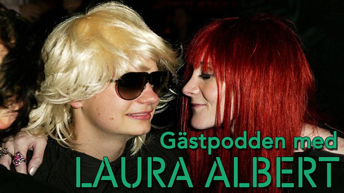 """Bild på Laura Albert och Jt LeRoy ned texten """"Gästpodden med Laura Albert"""""""