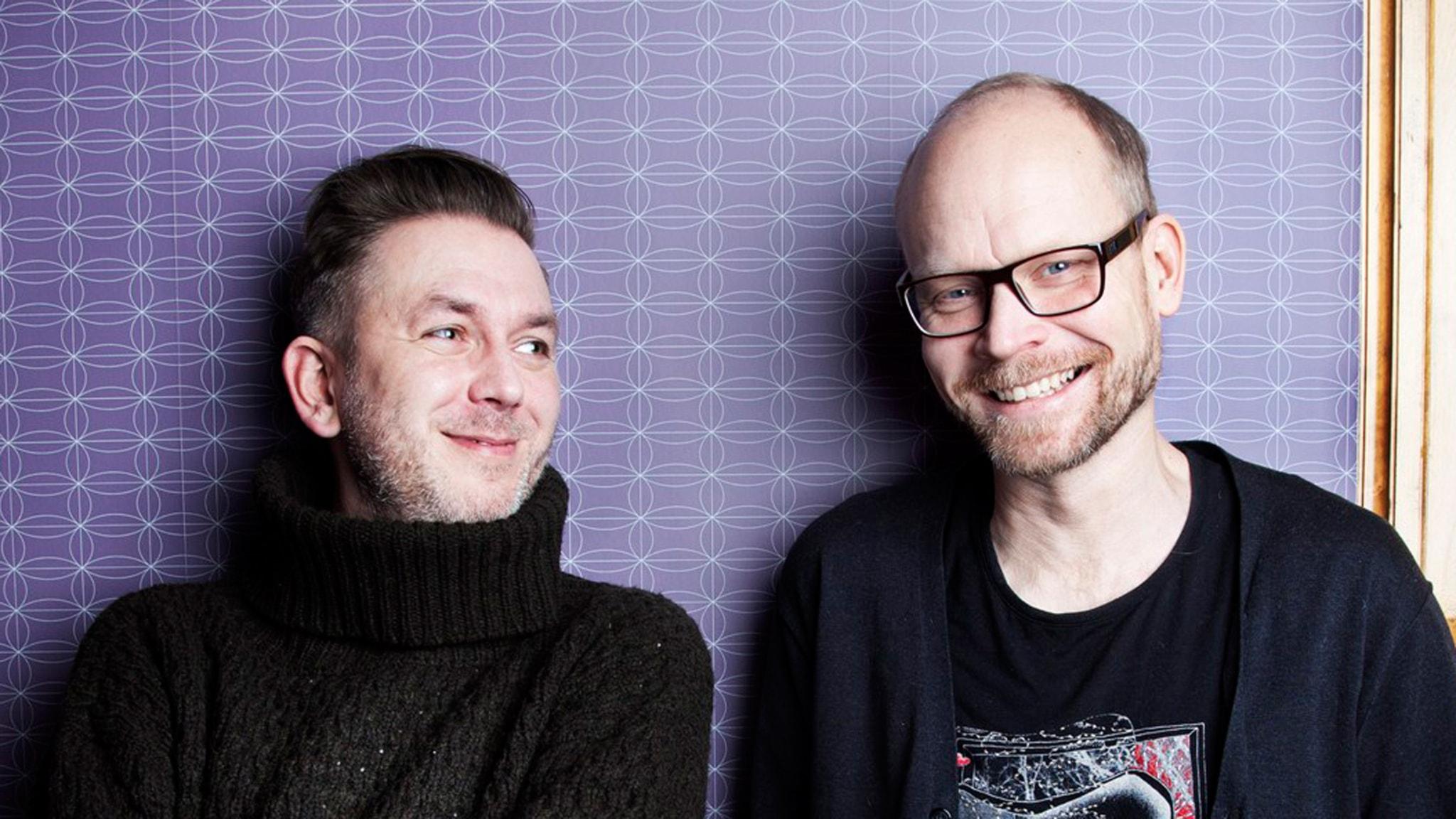 Andres Lokko och Kristian Luuk. Foto: Sveriges Radio