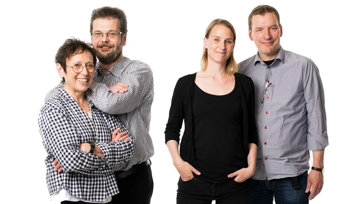 Rut Pergament och Göran Gademan/Cecilia Hultkrantz och Erik Risberg. Foto: Mattias Ahlm/Sveriges Radio