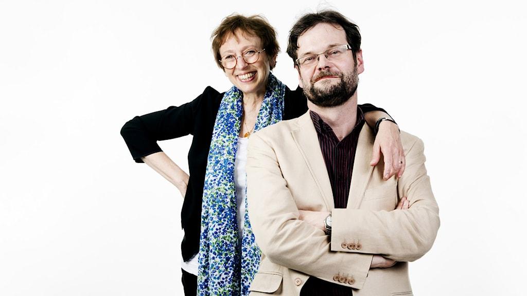 Rut Pergament och Göran Gademan. Foto: Mikael Andersson/Sveriges Radio.