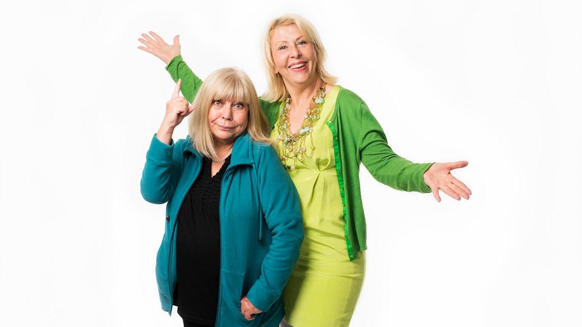 Bodil Asketorp och Pia Johansson. Foto: Mattias Ahlm/Sveriges Radio