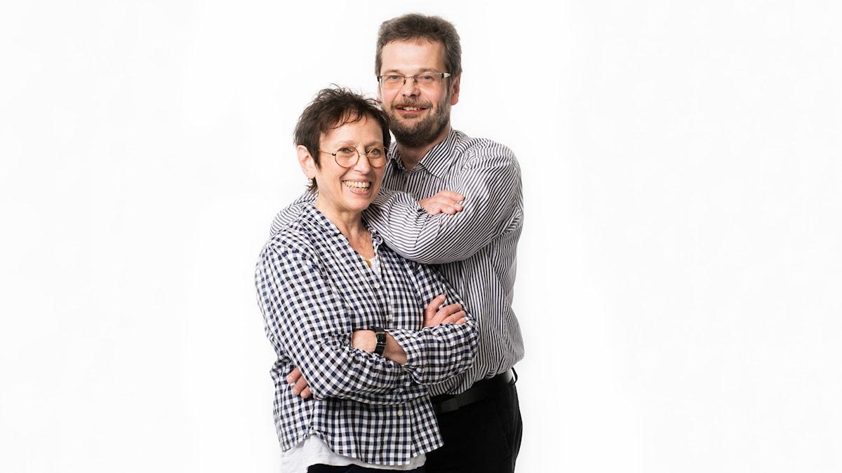 Rut Pergament och Göran Gademan. Foto: Mattias Ahlm/Sveriges Radio