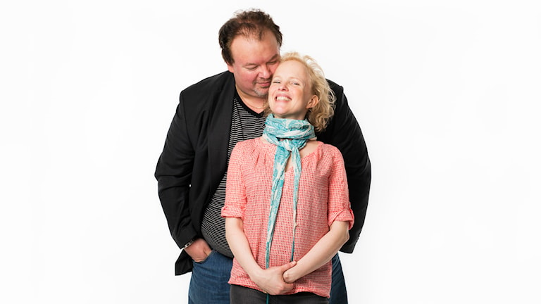 """""""Sångarlaget"""": Marcus Jupither och Kerstin Avemo. Foto: Mattias Ahlm/Sveriges Radio"""