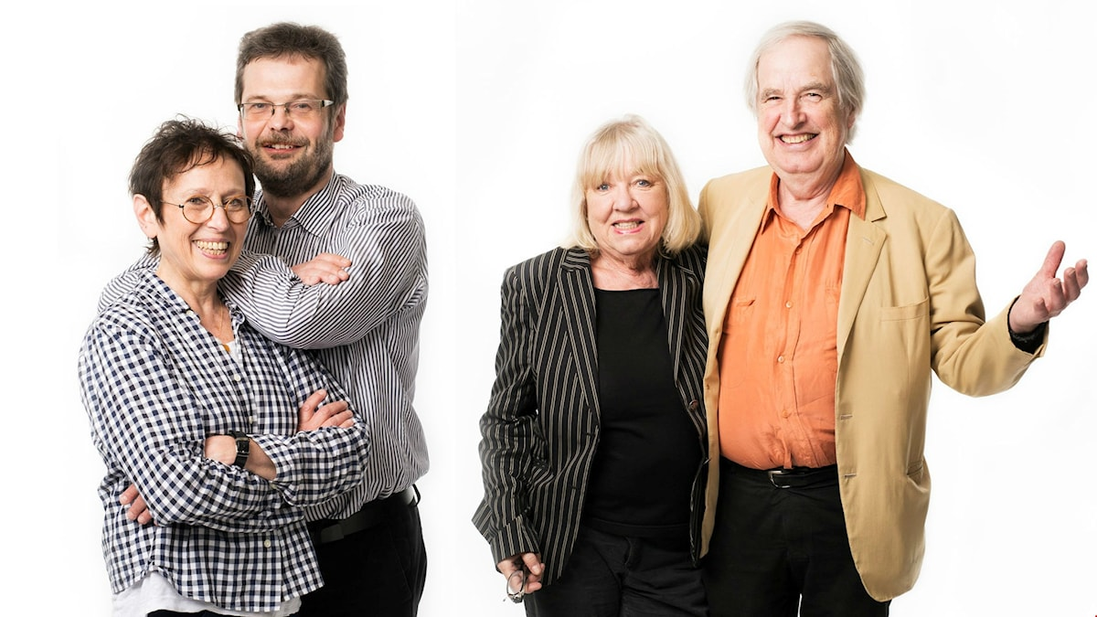 Rut Pergament och Göran Gademan/Monica och Carl-Axel Dominique. Foto: Mattias Ahlm/Sveriges Radio