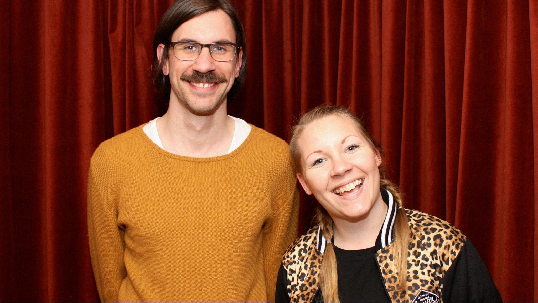 Filip Jers och Sanna Andersson foto: David Silva