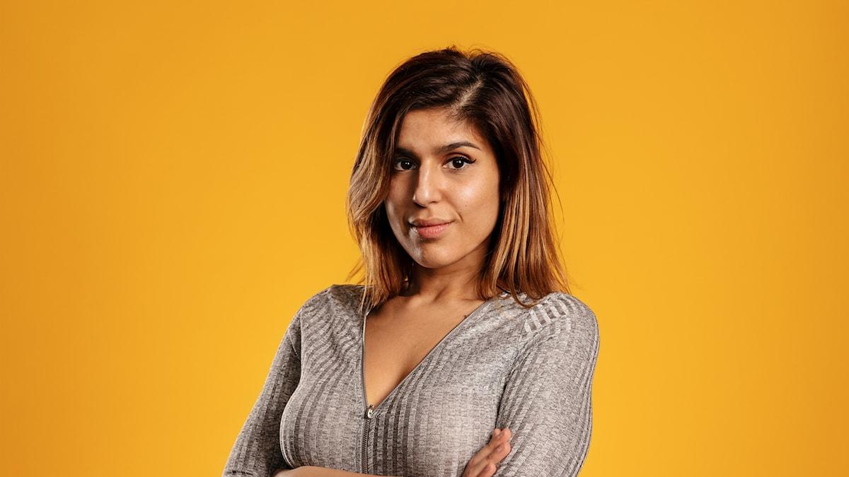 En bild på programledaren Mariana Benyamin
