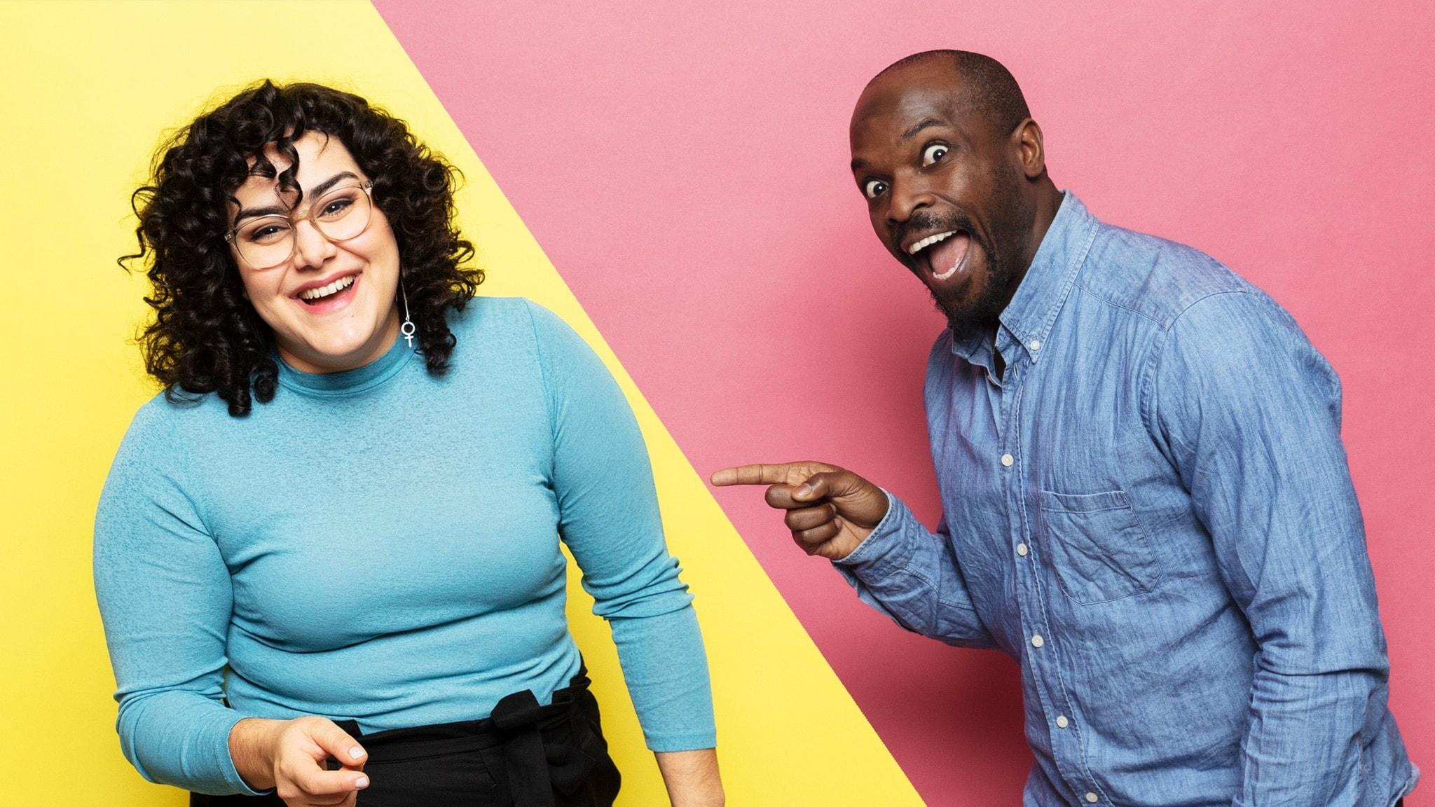Tina Mehrafzoon och Kodjo Akolor