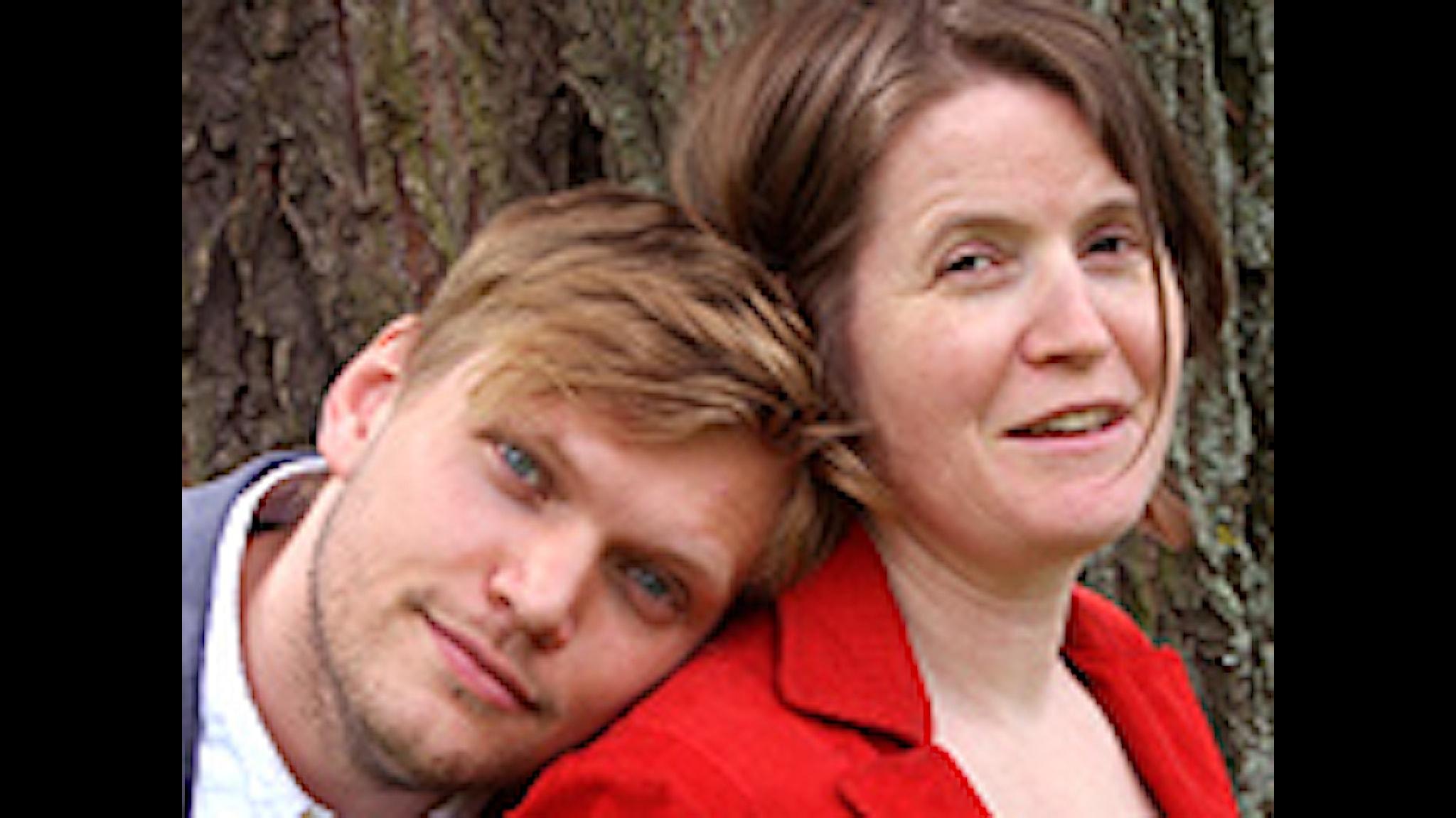 Henrik Torehammar och Louise Epstein. Foto: Benjamin Thorén/Sveriges Radio.