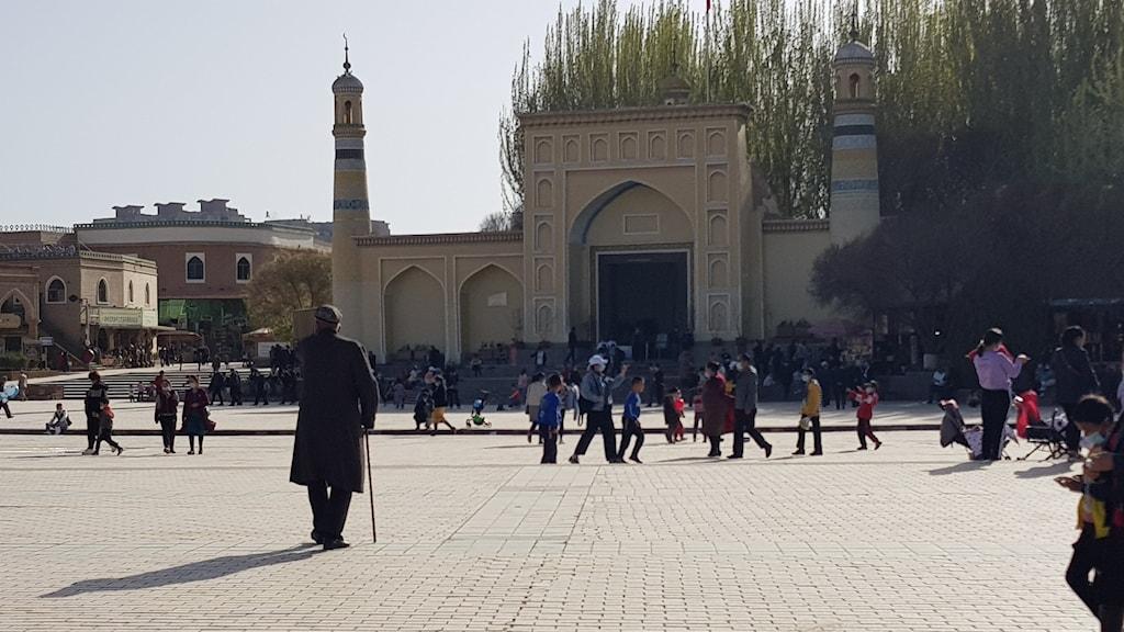 utanför Id Kah-moskén