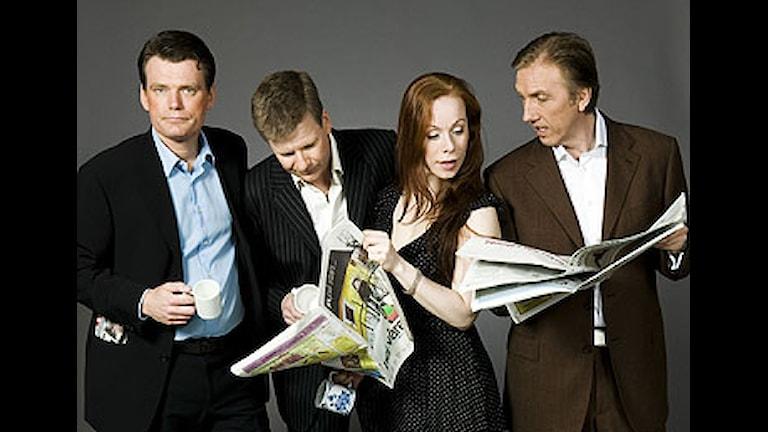 Göran Gabrielsson, Mattias Konnebäck, Rachel Mohlin och Erik Blix  Foto: Johan Ljungström/SR