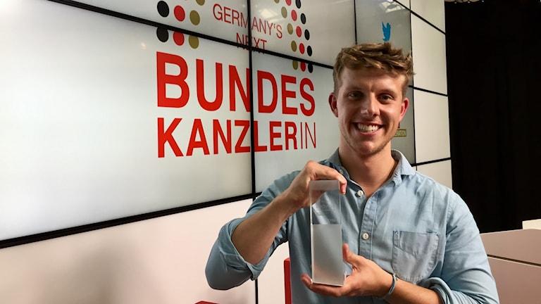 Julius Freund vann tävlingen Germanys next Bundeskanzler. För hans morbror, socialdemokraternas ledare Martin Schulz, ser chanserna sämre ut inför det verkliga valet den 24 september.