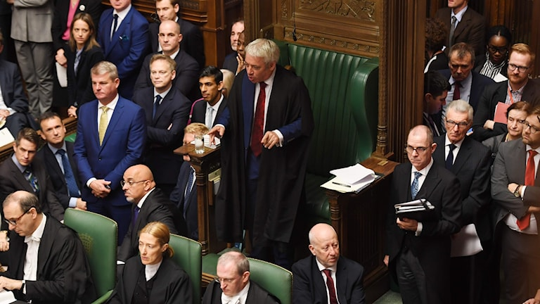 Brittiska parlamentets talman John Bercow 19 oktober 2019.