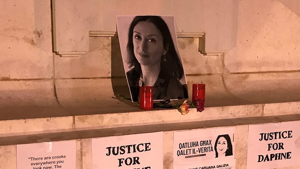 Daphne Caruana Galizia mördades för gräv journalistik om ekonomiska brott.