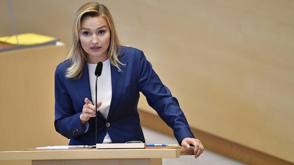 Christian Democrat leader Ebba Busch.