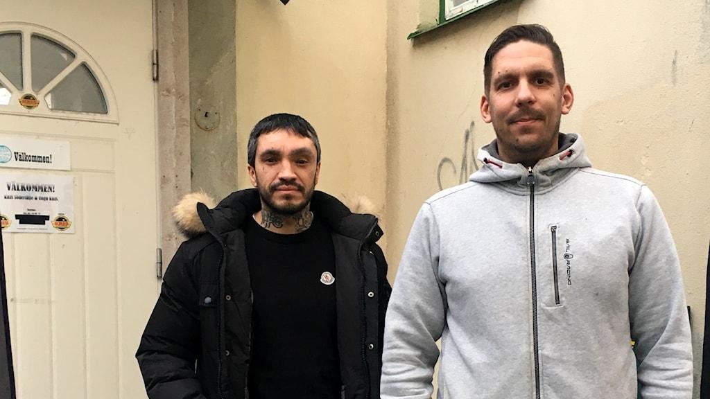 Jacob Fraiman och Jan Ukkolin från organisationen Unga kris.