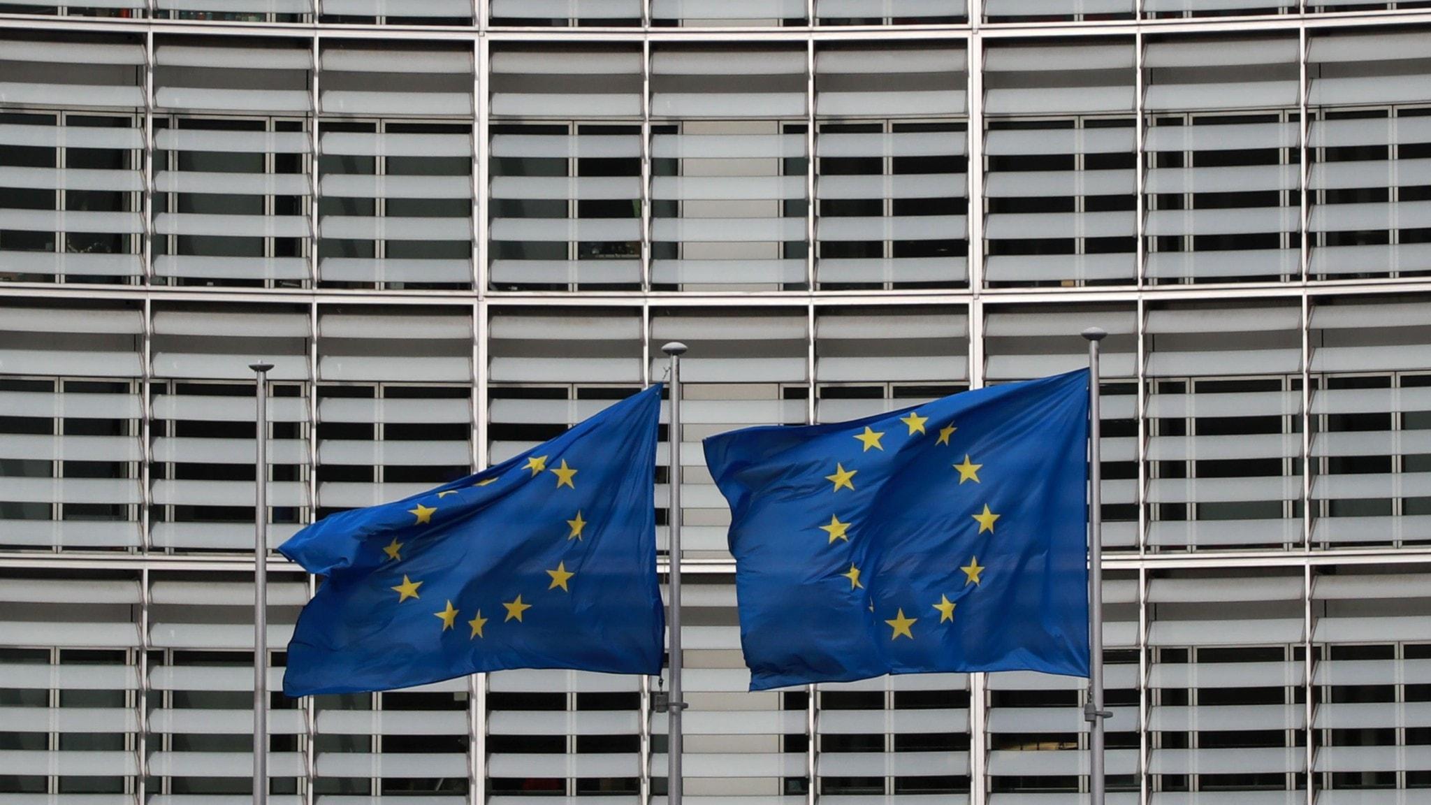EU-flaggor i Bryssel