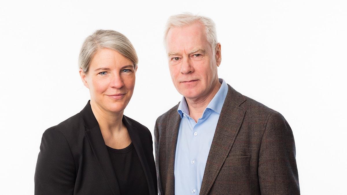 Sara Stenholm och Olle Hägg. Foto: Mattias Ahlm/Sveriges Radio