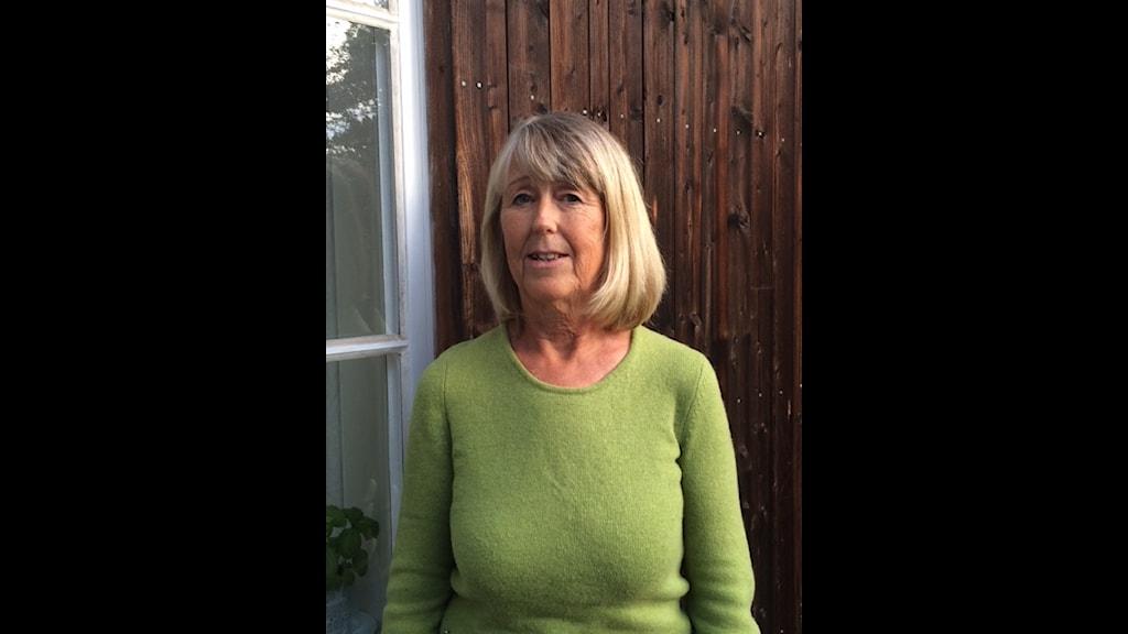 Mia Torpe som är eldsjälen bakom Ekobyn i Björkhagen utanför Stockholm. Foto:Lena Bejerot/SR