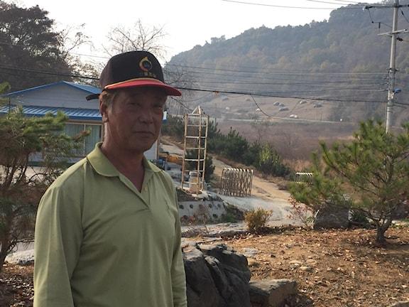 Bonden Kim Gui Young som bor vid den nordkoreanska gränsen.