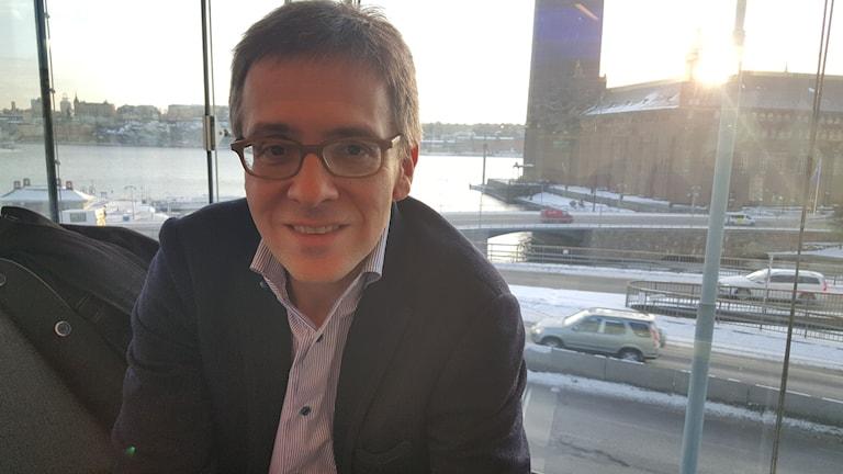 Ian Bremmer på Stockholmsbesök. Foto Hewa Abdelzadeh/SR