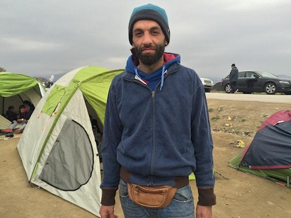 : Josef från Aleppo förlorade sin fru och 5-åriga dotter när bomberna föll.