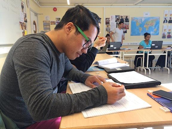Hossein Hosseini, elev på Sprintgymnasiet i Skärholmen.