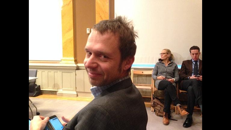 Jens Holm, vänsterpartist deltar i veckans möte i EU-nämnden - en doldis som fått allt mer makt på sistone.
