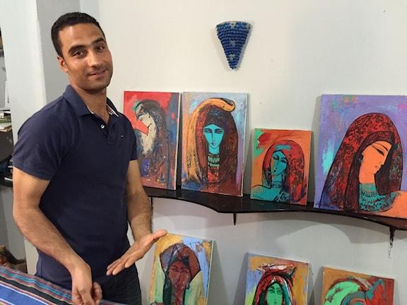 Graffitikonstnären Alaa Awad