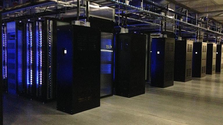 Facebooks dataservrar i Luleå.