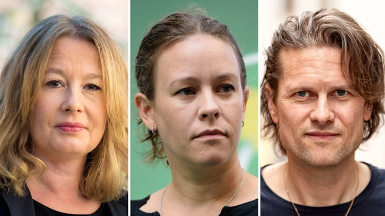 Åsa Linderborg, Maria Wetterstrand och Mattias Svensson.