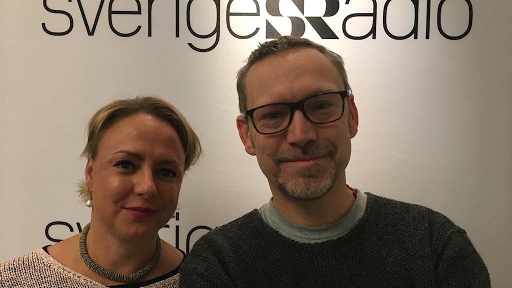 Jenny Sonesson, GP och Erik Helmerson, DN.