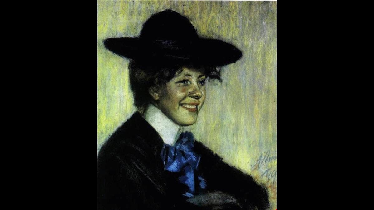 Målning av poeten Marie Under. foto Wikimedia Commons
