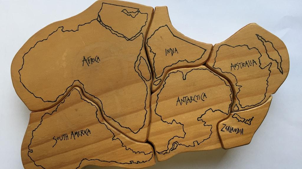 karta över kontinenter