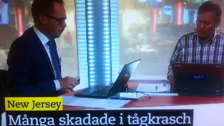 Filip Struwe och Rolf Fredriksson i SVT.