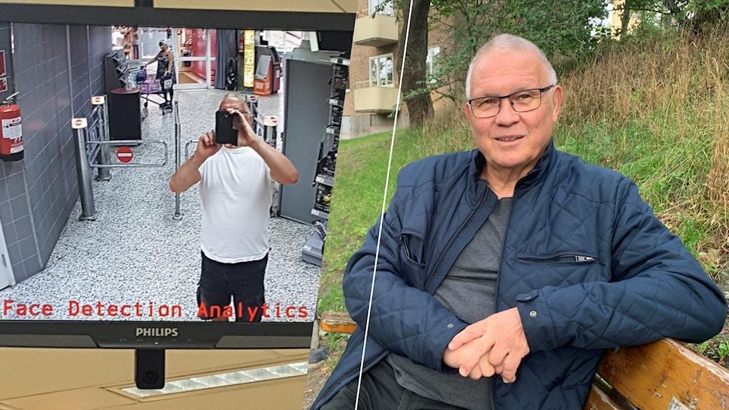 I somras anmälde Stockholmsbon Bengt Larsson en matbutik för sin övervakningsteknik.