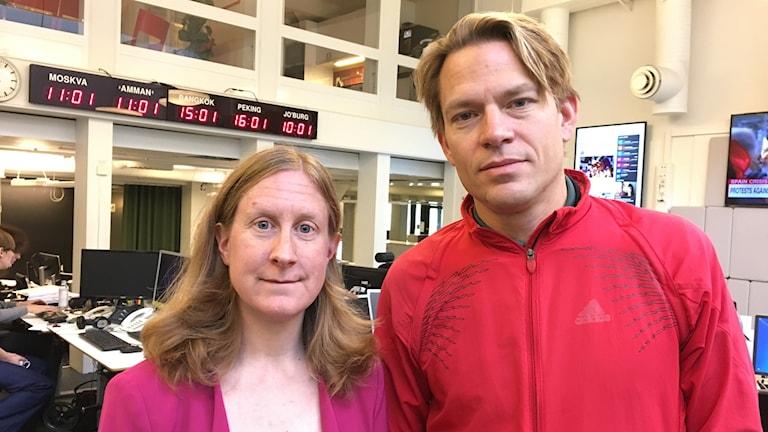 Susanne Nyström och PM Nilsson (Jenny Wennberg medverkade från en studio i Gävle.)