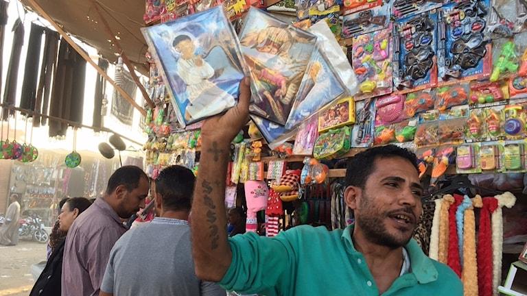 Människor på en helgonfestival i Egypten.
